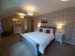 Strathglass Cottage master bedroom